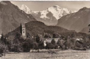 Switzerland Unterseen Moench und Jungfrau 1937 Real Photo