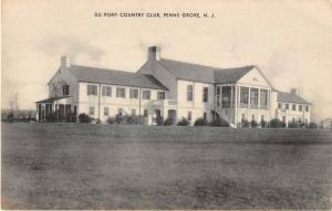 Penns Grove New Jersey Du Pont County Club Exterior Antique Postcard V14156