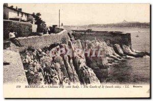 Postcard Old Chateau d'If Marseille Cote Sud
