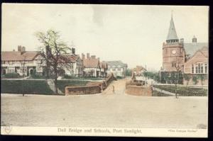 cheshire, PORT SUNLIGHT, Dell Bridge and Schools (1910s)