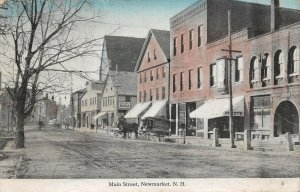 LPS85 Newmarket New Hampshire Main Street Town View Vintage Postcard