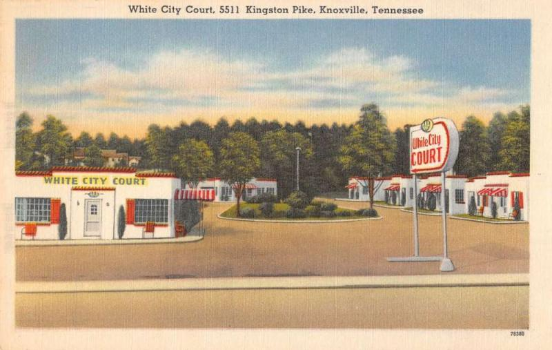 Knoxville Tennessee White City Court Street View Antique Postcard K36885