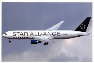 Postcard Boeing 767-222 Star Alliance United Reg:N635UA Airline Airliner 54L
