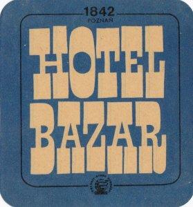 Poland Poznan Hotel Bazar Vintage Luggage Label lbl1650.5