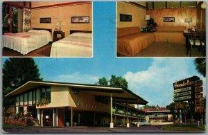 Tarpon Springs, Florida Postcard THE GONDOLIER MOTEL / Roadside 1962 Cancel