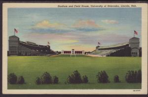 Stadium,Field House,University NE,Lincoln Postcard