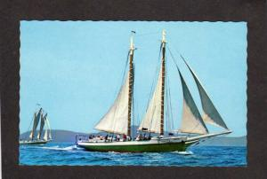 ME Windjammer Ships Schooners Mattie Mercantile Camden Maine Postcard