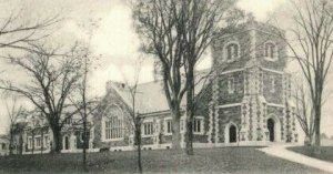 Circa 1900-07 First Congregational Church, Newton Centre MA Vintage Postcard P18