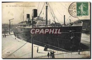 Postcard Old Ship Boat Le Havre Provence in dry dock