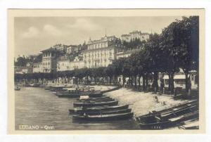 RP, Boats, Quai, Lugano (Ticino), Switzerland, 1920-1940s