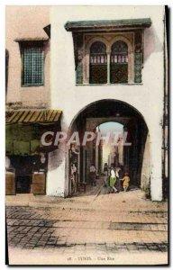 Old Postcard A Street Tunis