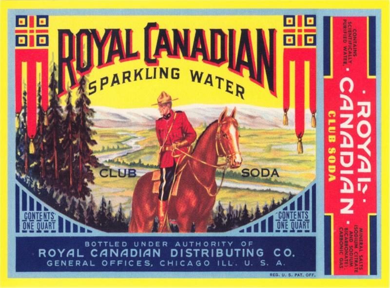 Royal Canadian Club Soda Mountie RCMP Advertising Repro Postcard