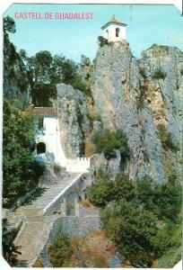 Spain, Castell de Guadalest, Alicante, used Postcard