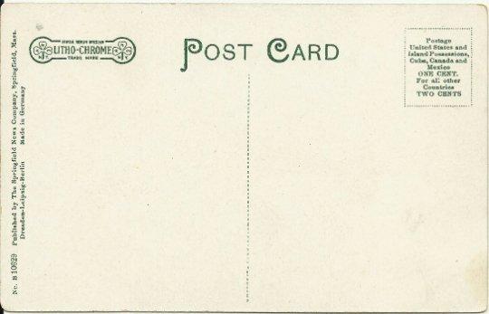 The Pavilion Pequot Lake Westfield Massachusetts Vintage Postcard Edwardian