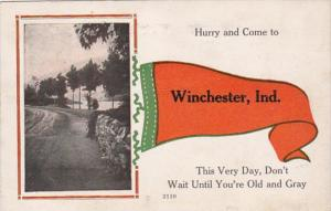 Indiana Winchester Hurry and Come 1917 Pennant Series