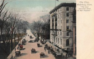 The Elton Hotel, Waterbury, Connecticut, Hand Colored Postcard, Used in 1909