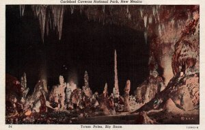 Totem Poles,Big Room,Calsbad Caverns National Park,NM