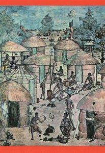 Mural By Ranford Sililo Livingstone Museum Zambia Art Postcard
