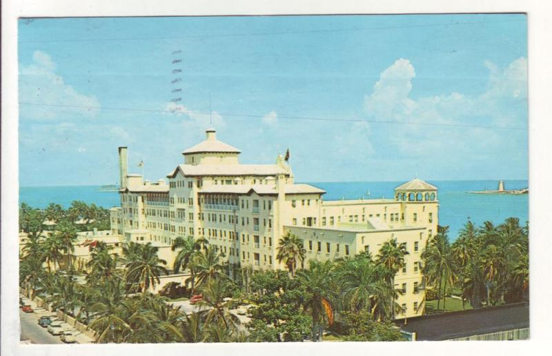 PC6 JLs postcards a gill hotel nassau bahamas 1960 pm stamp