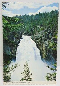 Yellowstone National Park Upper Falls Vintage Postcard