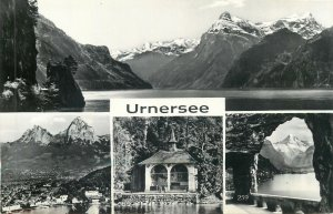 Switzerland Unersee lake multiview mountain landscape Postcard