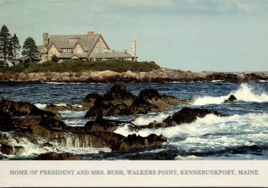 Maine Kennebunkport Walkers Point Home Of President and Mrs Bush