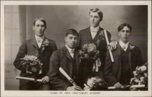 Craftsbury VT Vermont Class of 1903  - c1910 Real Photo Postcard