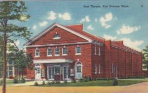 Massachusetts Fort Devens Post Theatre 1952