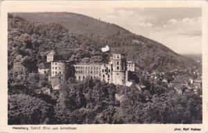 Germany Heidelberg Schloss Blick vom Schlosshotel 1951 Photo