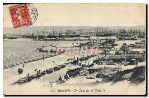 Old Postcard Marseille a corner of the Joliette