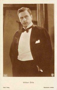 MILTON SILLS Movie Star Silent Film Actor Ross Verlag c1920s Vintage Postcard