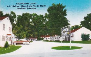 HARRISON , Arkansas, 50-60s ; Entrance to Cresthaven Court