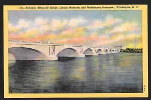 Arlington Memorial Bridge Washington DC unused c1932