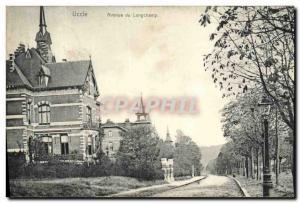 Old Postcard Avenue Longchamp Uccle