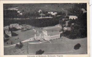 Virginia Richmond Aerial View University Of Richmond 1941