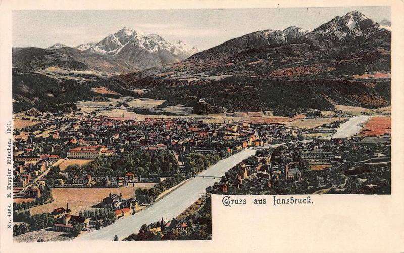 Greeting From Innsbruck, Austria, Early Postcard, Unused, Published in 1901