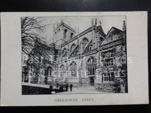 c1911 Dorset: Sherborne Abbey - Advert for GARDINER, SONS & Co Ltd on reverse