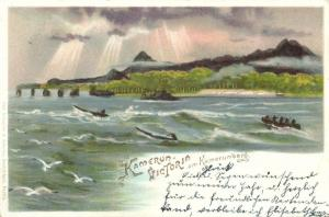 german west africa, CAMEROON, Victoria near Mount Cameroon, Fako Volcano (1897)