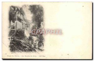 Aix les Bains - Gorges Sierroz - The mills of Gresny - Old Postcard