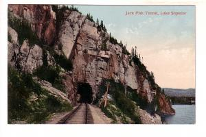Train Tracks Though Jack Fish Tunnel, Lake Superior, Ontario,