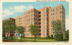 Phillips Apartment Hotel in Bartlesville Oklahoma OK White Border