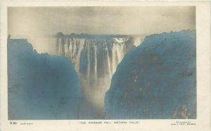 The Rainbow Fall Victoria Falls Rhodesia ( Zambia Zimbabwe ) Photo Postcard