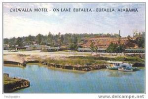 Chewalla Motel on Lake Eufaula, Eufaula, Alabama, AL, Chrome