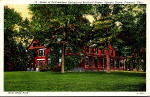 Ohio Fremont Spiegel Grove Home Of Ex President Rutherford B Hayes 1942 Curteich