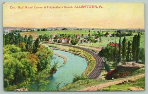Allentown Pennsylvania~Haymakers Island~Central Railroad Curve Birdseye View~'08