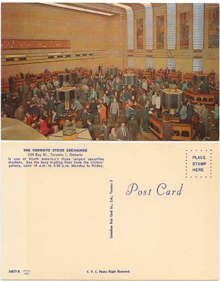 Post Card - View of The Toronto Stock Exchange