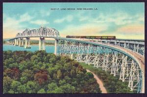 Huey Long Bridge New Orleans Louisiana unused c1930's