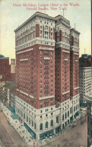 USA - Hotel McAlpin Largest Hotel in the World Herald Square New York 03.64