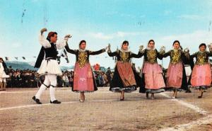Greece Greek Fashion Folklore Singing Lady Ladies Sings Costume Postcard