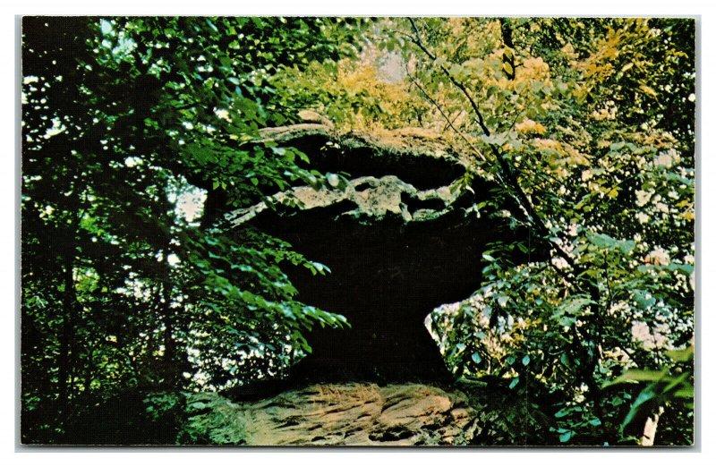 SLADE, Kentucky ~ Balance Rock at Natural Bridge in KY Vintage Postcard